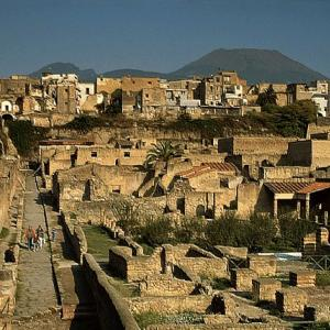 The remains of Herculaneum in Italy