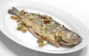 Trout with Cascia truffles